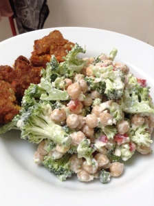 Broccoi Salad with Creamy Feta Dressing