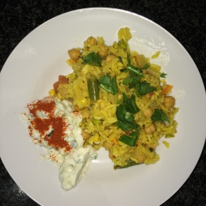 Indian Pilaf with Raita