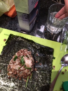 Onigiri wrapped in Nori