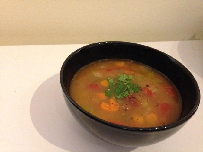 Romano White Bean Vegetable Soup with Quinoa