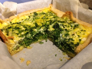 Asparagus, Spinach, and Feta quiche